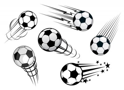 Fototapeta Urychlení fotbaly nebo fotbalové míče