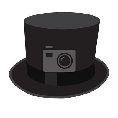 d142a9626e1 Válec černý klobouk vektorové ilustrace fototapeta • fototapety ...