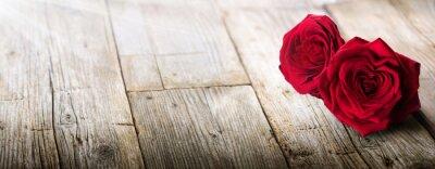 Fototapeta Valentýnky karta - Sunlight na dvou růží v lásce