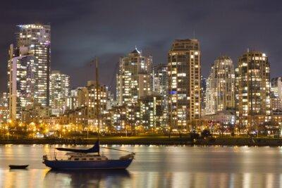 Fototapeta Vancouver Skyline a plachetnice