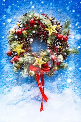 Vánoce a Nový rok na pozadí