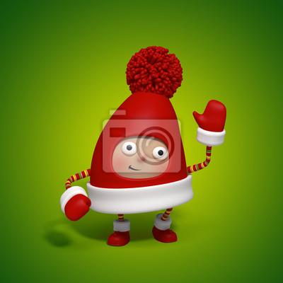 Fototapeta Vánoce charakter čepice