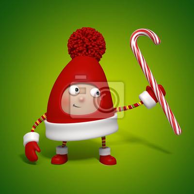 Fototapeta Vánoční hračky holding candy cane