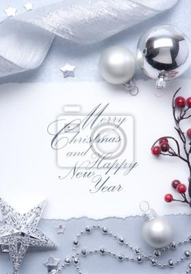 Vánoční přání s prázdným místem pro text
