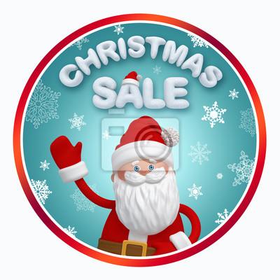 Fototapeta Vánoční prodej promo ting banner s Santa Claus