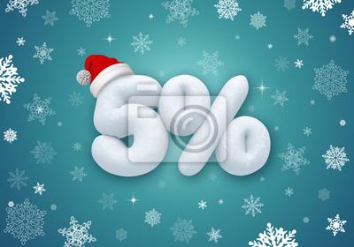 Fototapeta Vánoční prodej sleva 3d text
