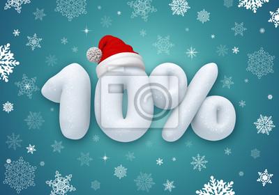 Fototapeta Vánoční prodej štítek, sleva 3d text