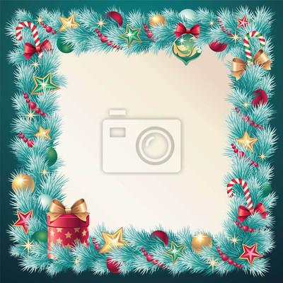 Fototapeta Vánoční rám dekorace
