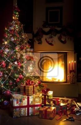 Vánoční strom a vánoční dárek