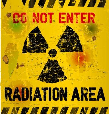 Fototapeta Varování záření oblast, vektorové ilustrace