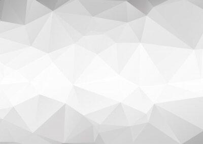 Fototapeta Vector abstraktní pozadí šedé trojúhelníky