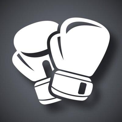 Fototapeta Vector boxerské rukavice ikona