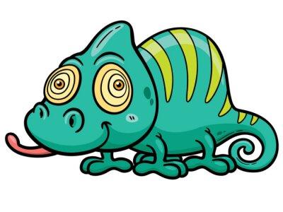 Fototapeta Vector illustration of Cartoon Chameleon