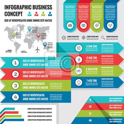 Vector infographic šablony. infografiky prvky. fototapeta ... eb9ac6f043