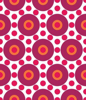 Fototapeta Vector moderní bezešvé barevný geometrie kruh vzoru, barva abstraktní geometrické pozadí, polštář vícebarevný tisk, retro textura, hipster módní design