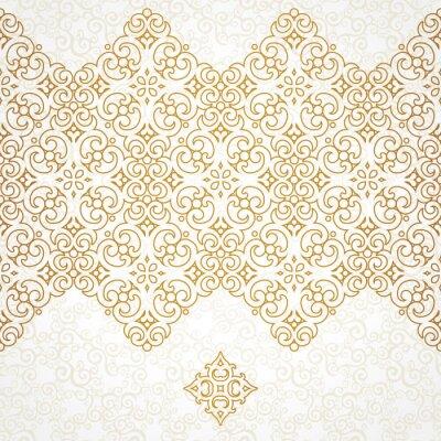 Fototapeta Vector ornate seamless border in Eastern style.
