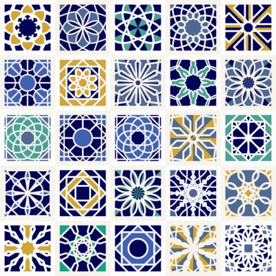 Fototapeta Vector sada geometrickými vzory