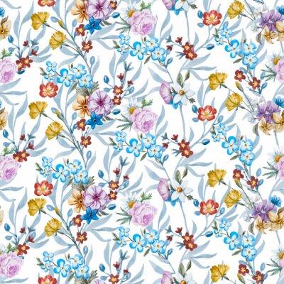 Fototapeta Vektor akvarel květinovým vzorem