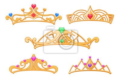 Fototapeta Vektor princezna koruny 4a673392c7