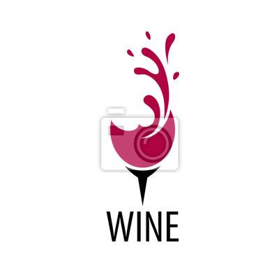 Fototapeta vektor víno logo
