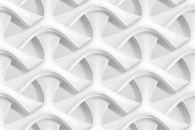 Fototapeta Vektorové bezešvé abstraktní geometrické 3d vlny vzor