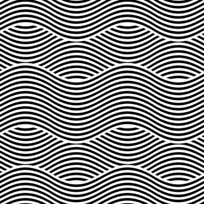 Fototapeta Vektorové bezešvé textury. Moderní geometrické pozadí. Opakující se vzor s vlnovkami.