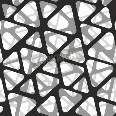 Fototapeta Vektorové bezproblémové vzorek. Moderní stylové 3D textury z pletiva.
