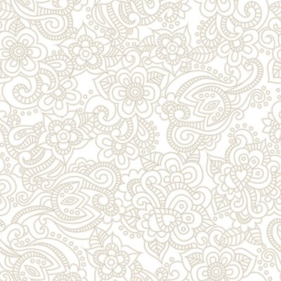 Fototapeta Vektorové bezproblémové vzorek s romantickým květinovým pozadím