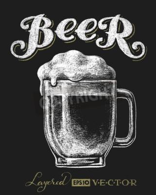 Fototapeta Vektorové ilustrace křída pivní sklenice na tabuli. Eps10. Transparentnost použity. RGB. Globální barvy. Přechody zdarma. Jednotlivé prvky jsou seskupeny samostatně