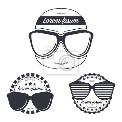 Fototapeta Vektorové ilustrace sady retro sluneční brýle hipster obchod  Logo Design šablony bafbf86aa4