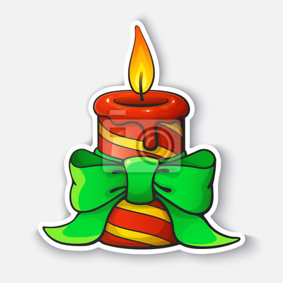 Výsledek obrázku pro vánoční svíčka kreslená