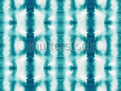 Fototapeta Vektorové kravatu bezproblémové vzorek. Ručně kreslený šiborský tisk. Inkoust texturovaného japonského pozadí. Moderní batik tapety. Akvarel nekonečné pozadí.