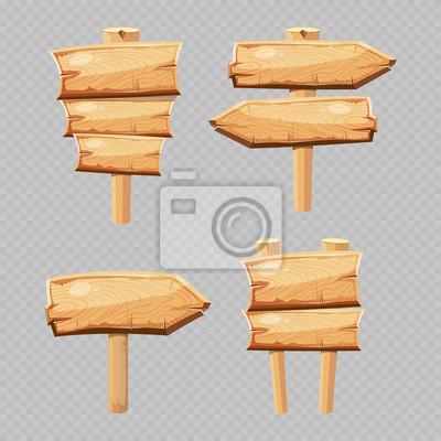 4d816e0a7 Fototapeta Vektorové kreslené dřevěné polotovary izolované na průhledném  pozadí