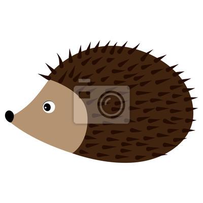 Vektorove Roztomily Kresleny Jezek Baby Hedgehog Vektorove