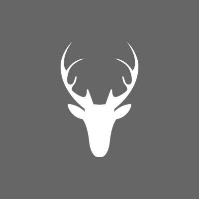 Fototapeta Vektorové vánoční ikona jelen hlava