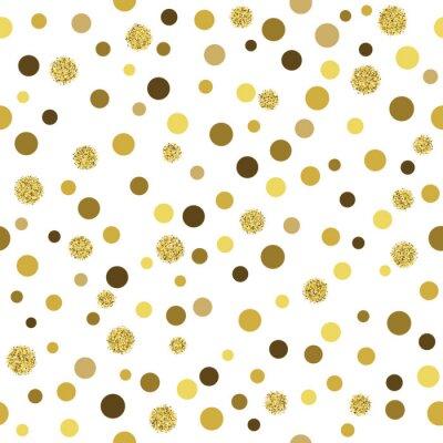 Fototapeta Vektorové zlaté třpytky bezešvé vzor