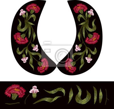 73ba5f2a5c8 Fototapeta Vektorový design pro halenky nebo šaty. Květinové výšivky pro  textilní design.