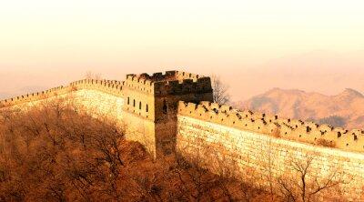 Fototapeta Velká čínská zeď západ slunce