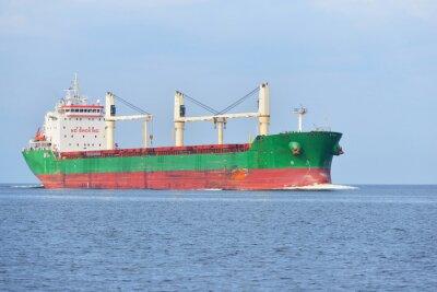 Fototapeta Velká nákladní loď (volně ložený) plachtění v jasného slunečného dne. R