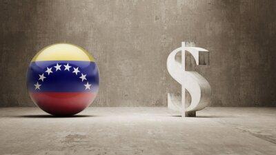 Venezuela. Peníze Sign koncept.