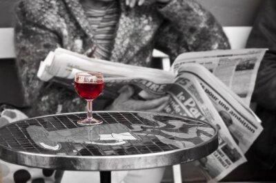 Fototapeta Verre de vin dans un Bistrot - Paříž, Francie