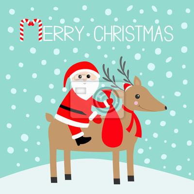 Vesele Vanoce Santa Claus Drzeni Darkove Tasky Roztomile Kreslene