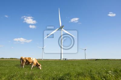 Fototapeta Větrné turbíny čisté zelené energie