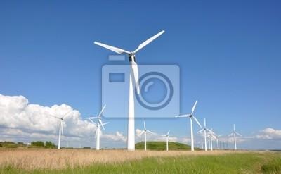 Větrné turbíny farmy