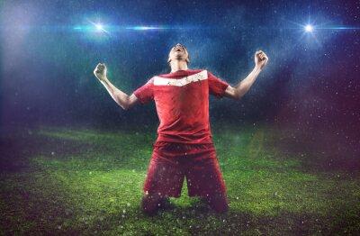 Fototapeta Victorious Soccer Player