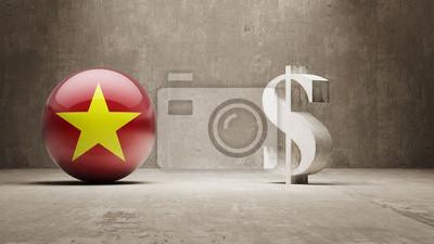 Vietnam. Peníze Sign koncept.