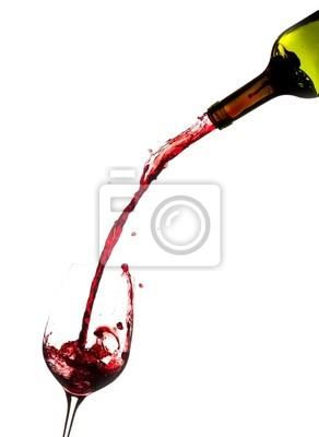 Fototapeta Víno nalil z láhve do sklenice