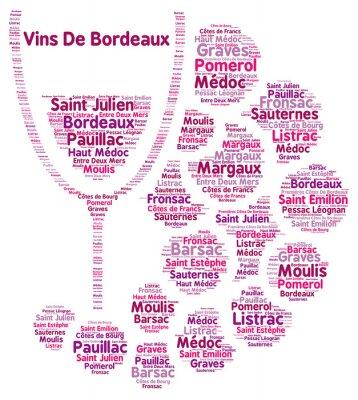 Fototapeta Víno z Bordeaux slovo mrak