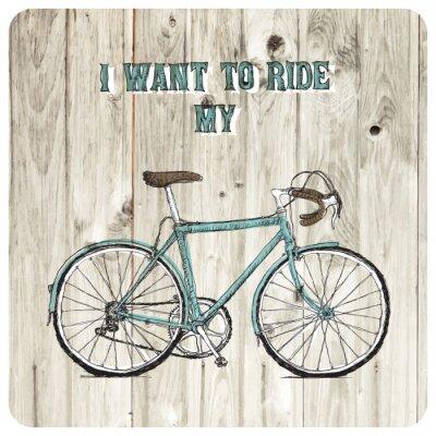 Fototapeta Vintage bycicle hand tažené plakáty
