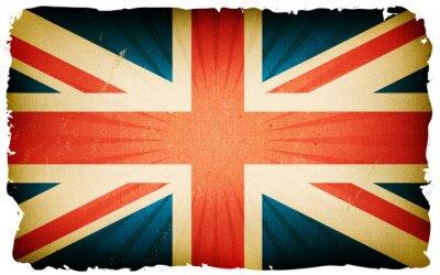Fototapeta Vintage English Flag plakát pozadí